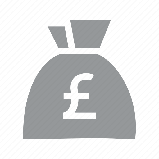 bag, currency, finance, konnn, money, pound, sterling icon