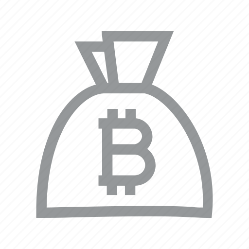 bag, bitcoin, coin, currency, finance, konnn, money icon