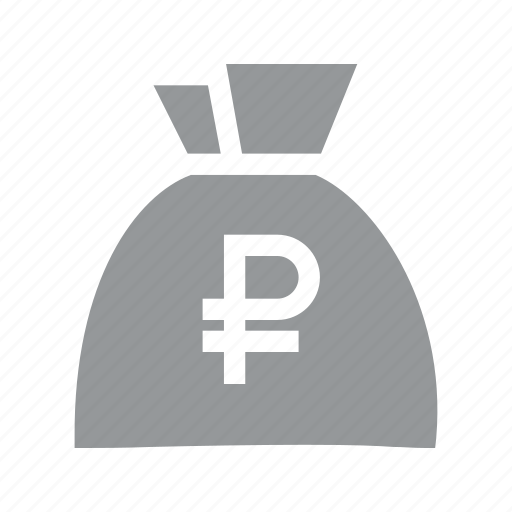 bag, currency, finance, konnn, money, ruble, sign icon