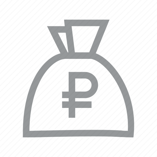 bag, coin, currency, finance, konnn, money, ruble icon