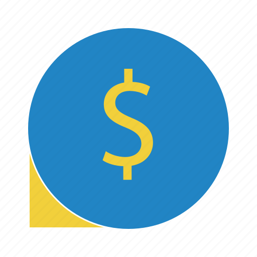 chat, dollar, finance, money chat icon