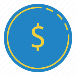 cash, cent, coin, dollar, money icon