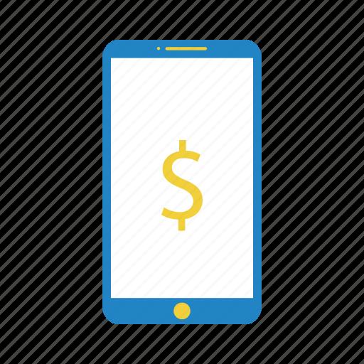 bank, banking, device, dollar, internet bank, net bank, phone, price, web bank icon