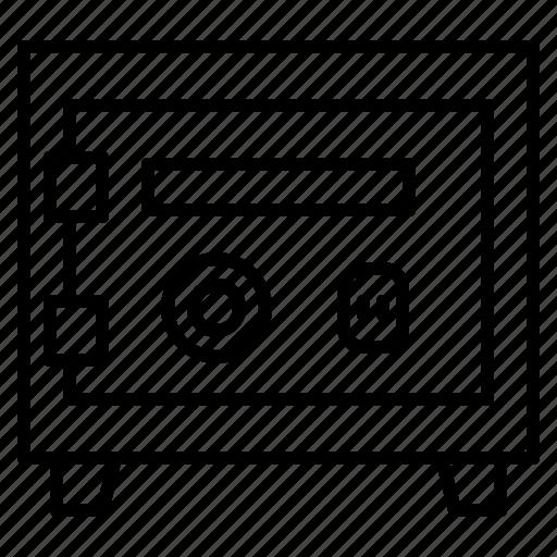 finance, license, lock, safe box, vault icon