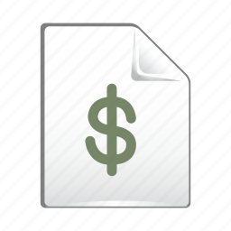 document, dollar, file, money, sign icon
