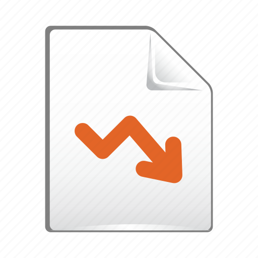 analytics, arrow, chart, document, down, statistics icon