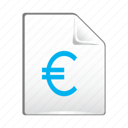 document, euro, file, money, payment icon