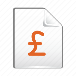 currency, document, file, money, paper, pound icon
