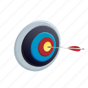 arrow, bullseye, direction, goal, target icon