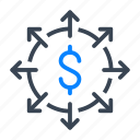 dollar, money, arrow, investment, finance