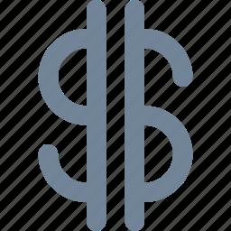 bank, conversion, converter, dollar, exchange, finance, line icon