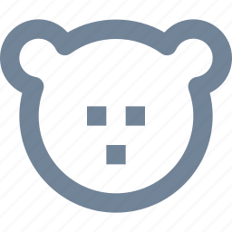 animal, bank, bear, finance, head, line, market icon