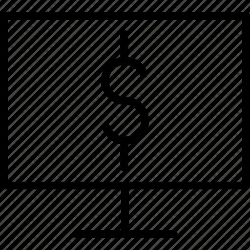 computer, dollar, ebanking, ecommerce, electronic, etrade, internet icon