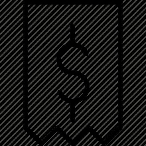 bill, business, dollar, finance, invoice, price, receipt icon