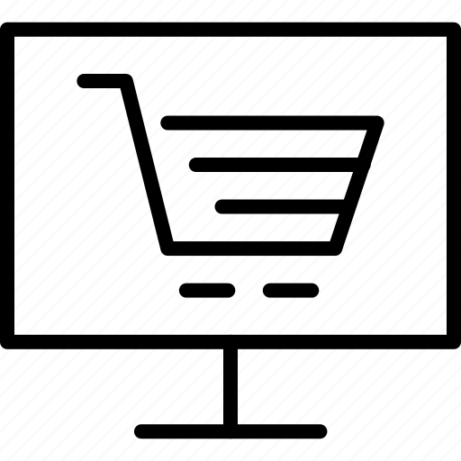 cart, computer, ecommerce, electronic, finance, online, shopping icon