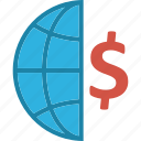 business, dollar, dollar sign, finance, global business icon
