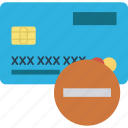 atm card, credit card, debit card, minus, payment method, visa card icon