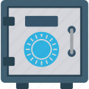 bank, finance, lock, money, safe icon