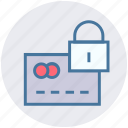 business, card, credit card, finance, lock, payment, secured icon