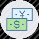 banknotes, cash, dollar, finance, paper money, paper notes, yen icon