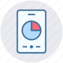 analytics, digram, mobile, mobile graph, pie chart, smartphone icon