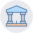 bank, building, business, courthouse, finance, government, office icon