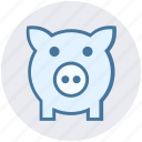 bank, box, cash, money, pig, piggy, saving icon