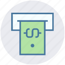 atm, atm machine, banking, cash, dollar, note, withdraw icon