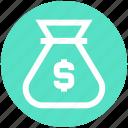bag, coins bag, currency sack, dollar, dollar sack, finance, money icon