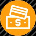 atm card, bill, card and bill, change, dollar bill, dollar note