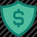 dollar, finance, insurance, money, safe, security, shield