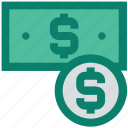 coin, dollar, finance, income, money, note, shopping icon