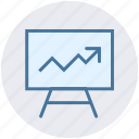 arrow, board, chart, diagram, office, presentation, up icon