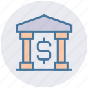 bank, building, business, courthouse, dollar sign, finance, government