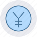 cash, coin, currency, finance, money, price, yen icon