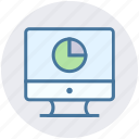 business presentation, display, lcd, pie chart, statistics icon