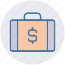 bag, business, case, dollar, finance, investment, suitcase