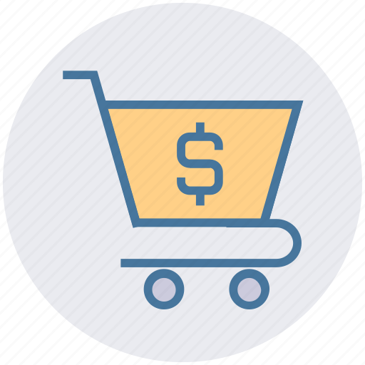 buy, cart, dollar, money, sell, shopping, sign icon