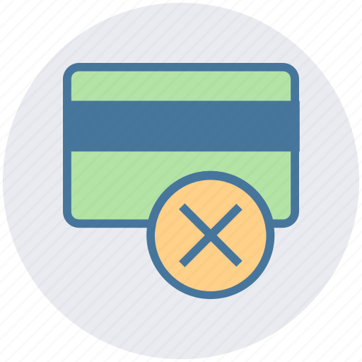 atm card, credit card, debit card, payment method, reject, visa card icon