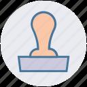 badge, certificate, original, paper stamp, stamp, stamp pad icon