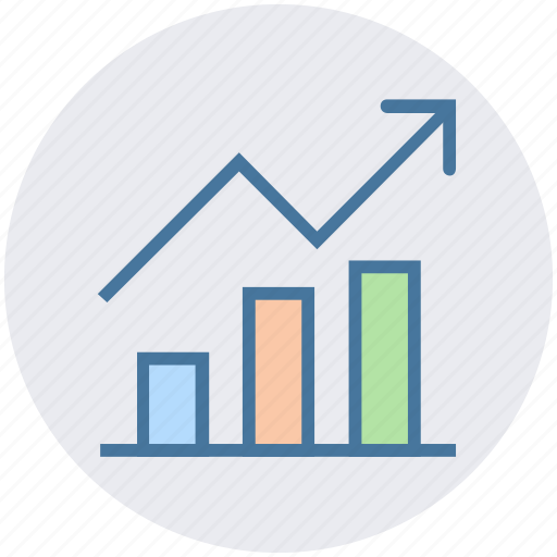 analysis, chart, currency, earning, finance, graph, up arrow icon