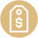 discount, dollar, sell, shopping tag, sign, tag icon