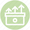 archive, arrows, data, documents, inbox, outgoing, upload icon