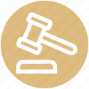 auction, gavel, hammer, justice, law, legal insurance icon