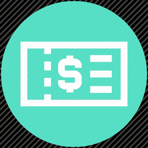 card, dollar, dollar card, finance, pass, ticket icon