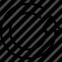 arrow, circle, motion, rotation, turn