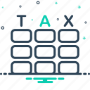 audit, calculator, managment, tax, taxation icon