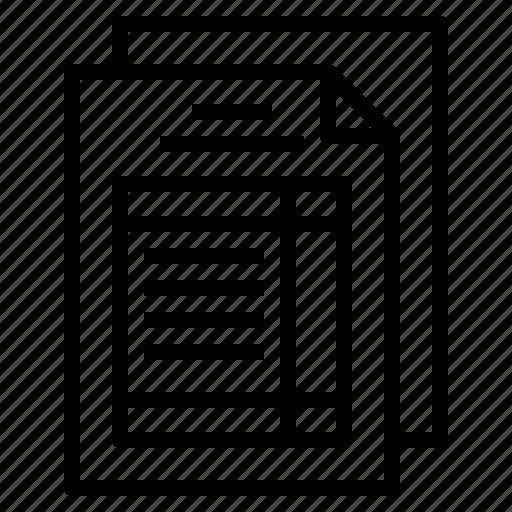 form, invoice, receipt, sale, tax icon