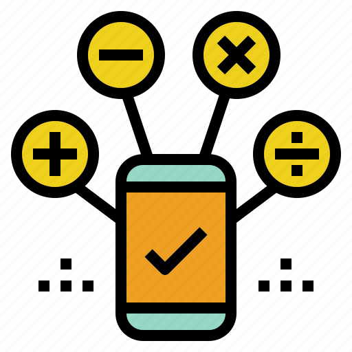 accounting, calculation, finance, mobile icon