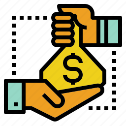 back, cash, client, deal, investment, profit icon